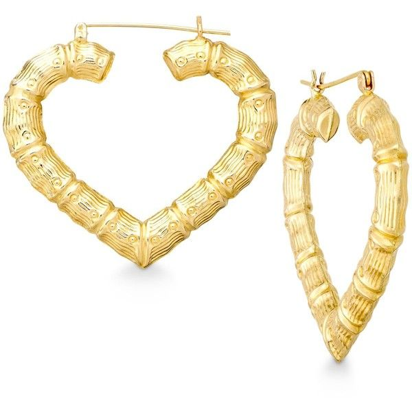 Designed with love, these heart-shaped hoop earrings boast bamboo ...