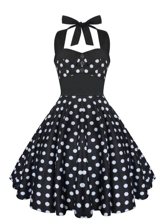 Plus Size Dress Rockabilly Dress Black Polka Dot Dress Swing Dress Pin Up Dress  Vintage 50s Dress Re a9ce421cf314