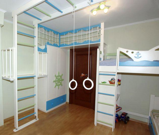 Спорткомплекс детский с кроватью Удивительно, факт