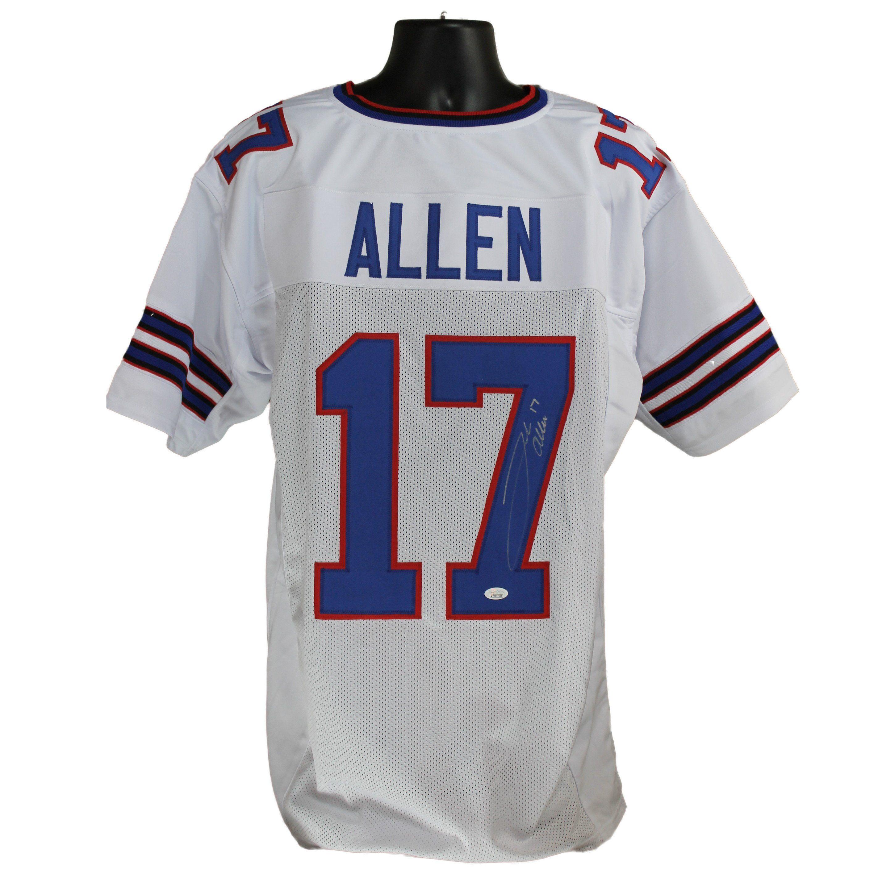 outlet store f440e 3872a Josh Allen Autographed Buffalo Bills White Custom Jersey w ...