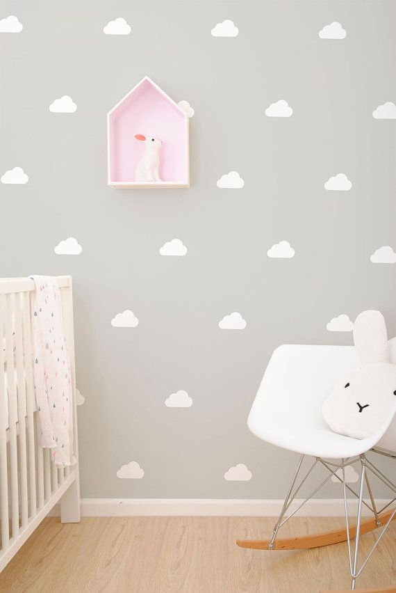 White clouds wall vinyl stickers / decals | Wandsticker, Vinyl ...