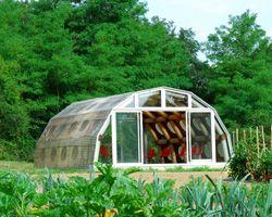 shigeru ban's paper pavilion is his first permanent building in europe at Domaine de Boisbuchet