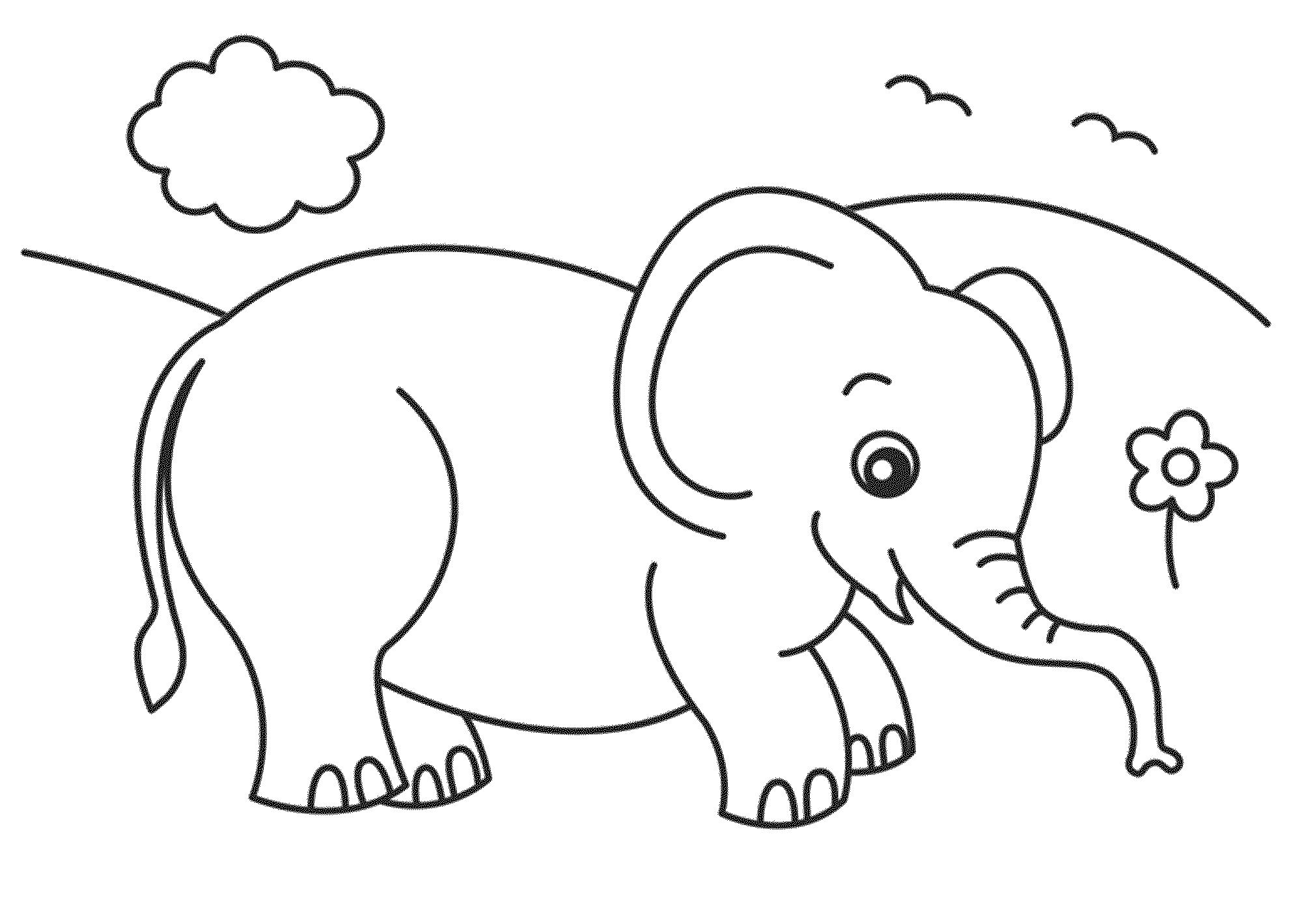 Cute Baby Elephant Coloring Pages Easy Elephant Coloring Pages Ideas For Beginners Elephant Coloring Page Elephant Drawing Printable Coloring Pages