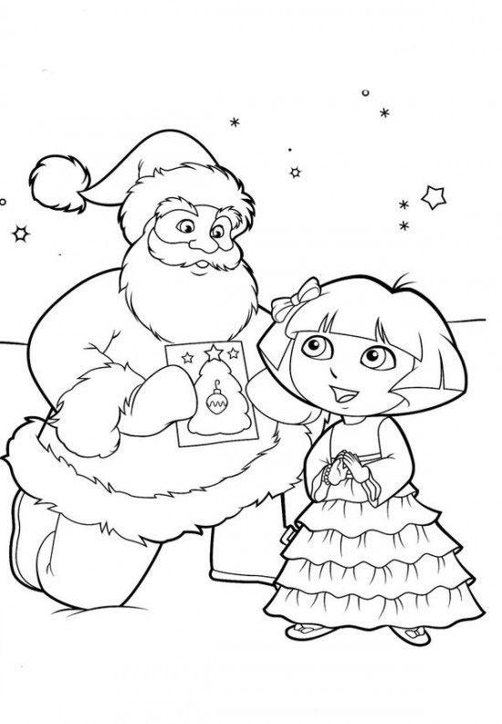 Colorear Dora La Exploradora Dora La Exploradora Paginas Para Colorear Paginas Para Colorear De Navidad