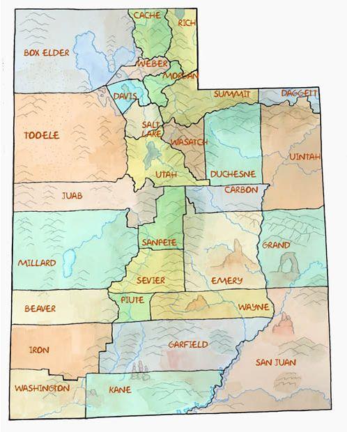 Counties Utah Map.Ilovehistory Utah Gov Counties Of Utah Lots Of Information On Each