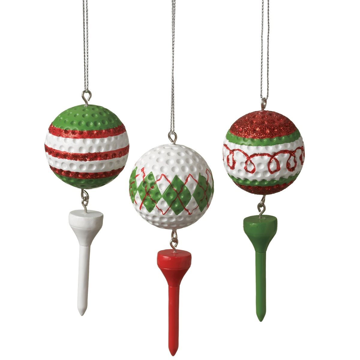 Decorative Christmas Ball Ornaments: Golf Ball & Tee Ornaments …