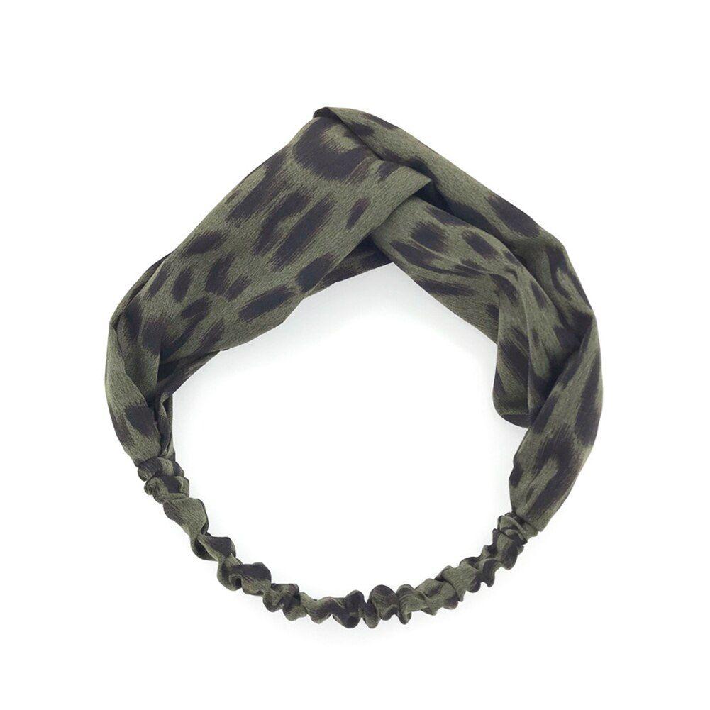 Leopard Print Headband Hairband Elastic Twist Turban Head Wrap Hair Accessories