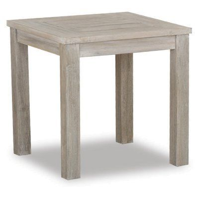 Outdoor Sunset West Teak Patio End Table ET Teak And Products - Teak outdoor end table