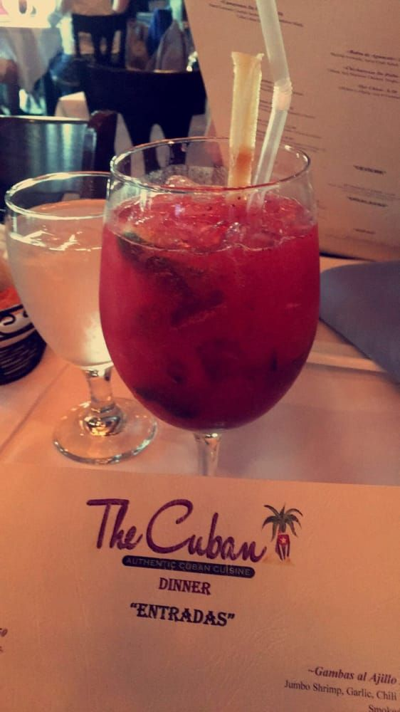 The cuban garden city ny united states strawberry mojito drinks at the cuban cuban Cuban restaurant garden city ny