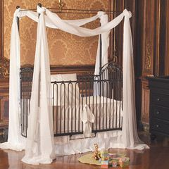 bratt decor venetian crib slate with removable posts and canopy