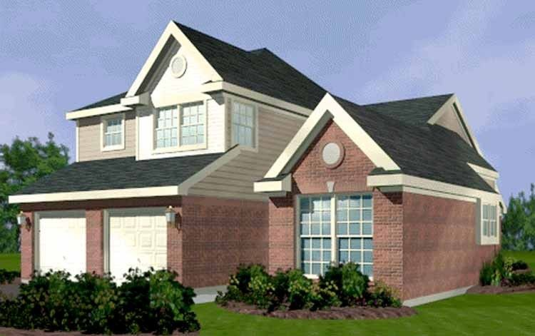 Eplans European House Plan - Three Bedroom European - 1866 Square Feet and 3 Bedrooms from Eplans - House Plan Code HWEPL70031