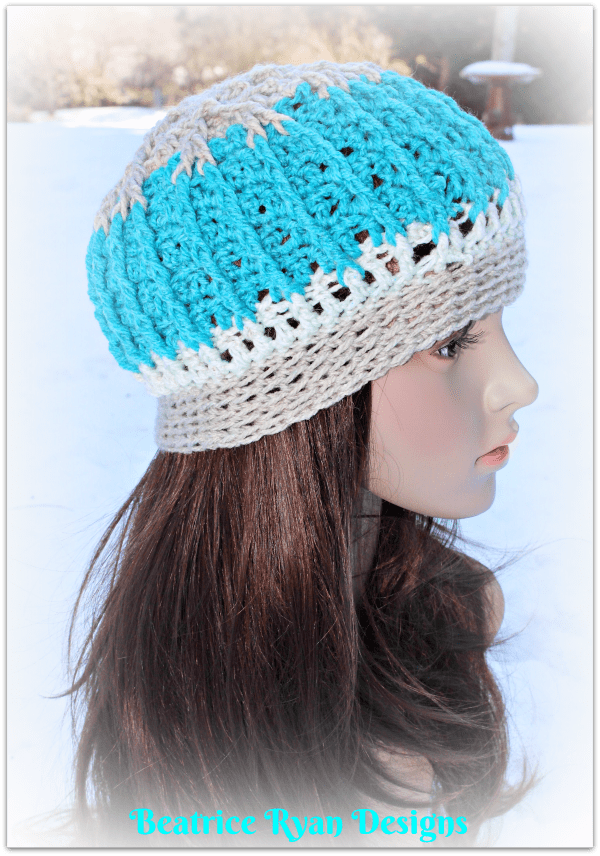 Snowy Mountain Beanie… Free Crochet Pattern