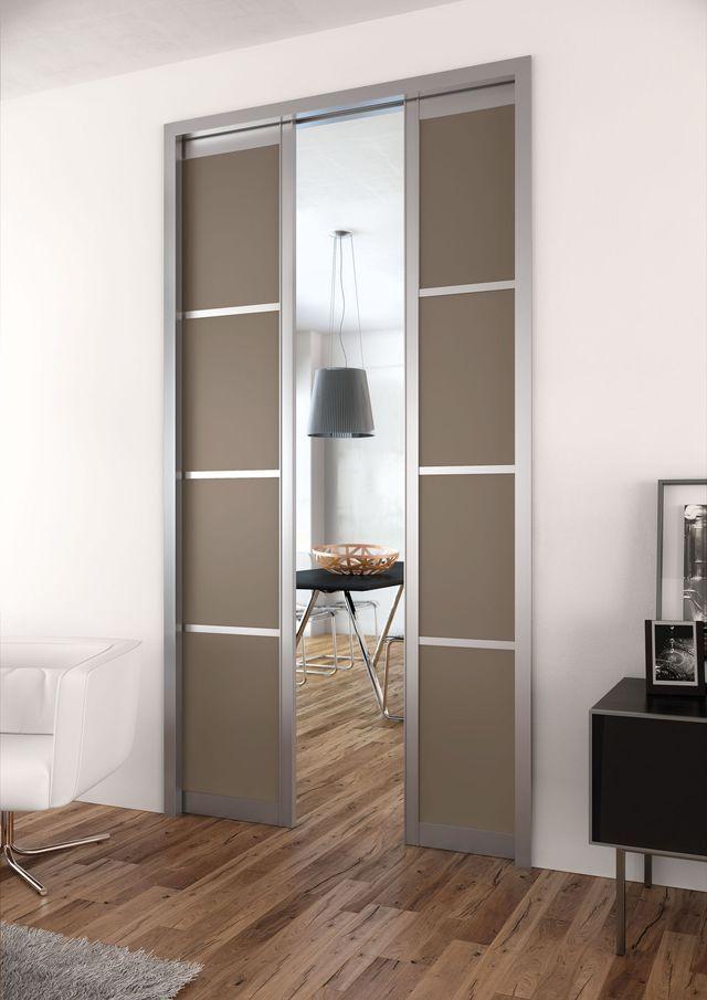 Porte à Galandage Des Portes Coulissantes Belles Et Pratiques - Porte placard coulissante avec prix porte intérieure sur mesure