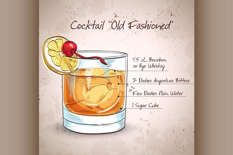 Old Fashioned Cocktail 601282 Illustrations Design Bundles In 2021 Old Fashioned Recipes Old Fashioned Cocktail Old Fashioned Drink