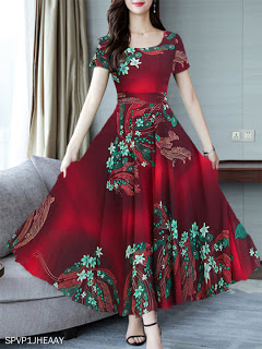 اجدد ملابس بنات ومحجبات ملابس صيفي 2021 جديده Street Style Stylecode Style Of Blackpink St Printed Maxi Dress Dresses Korean Fashion Dress