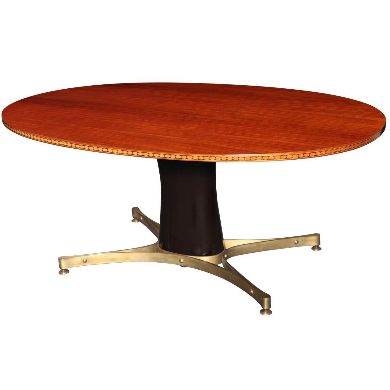 Mahogany Dining Table Designed By Paolo Buffa Ca 1950 Oggetti