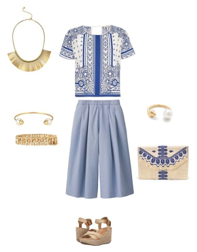 """Pretty Pattern #stelladotstyle"" by gill-carruthers on Polyvore featuring Uniqlo, River Island, Blowfish and Stella & Dot"