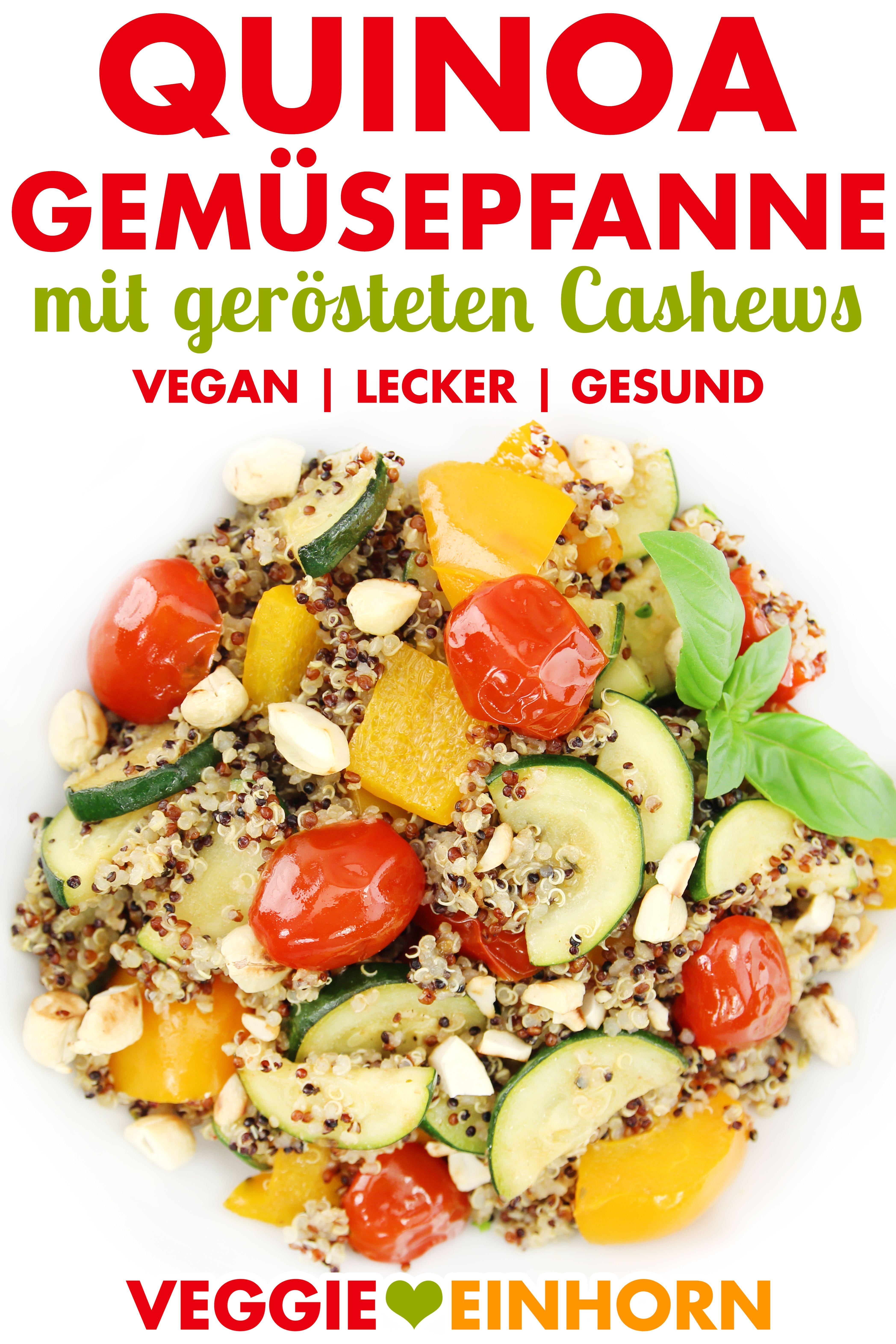 Vegane Quinoa-Gemüsepfanne #veganerezeptemittag