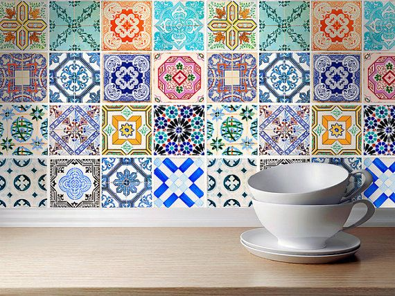 Fliesendekor Badezimmer ~ Traditional spanish tiles stickers tiles decals tiles for