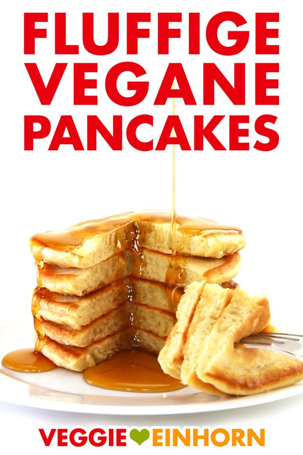 fluffige vegane pancakes rezept rezepte vegan. Black Bedroom Furniture Sets. Home Design Ideas