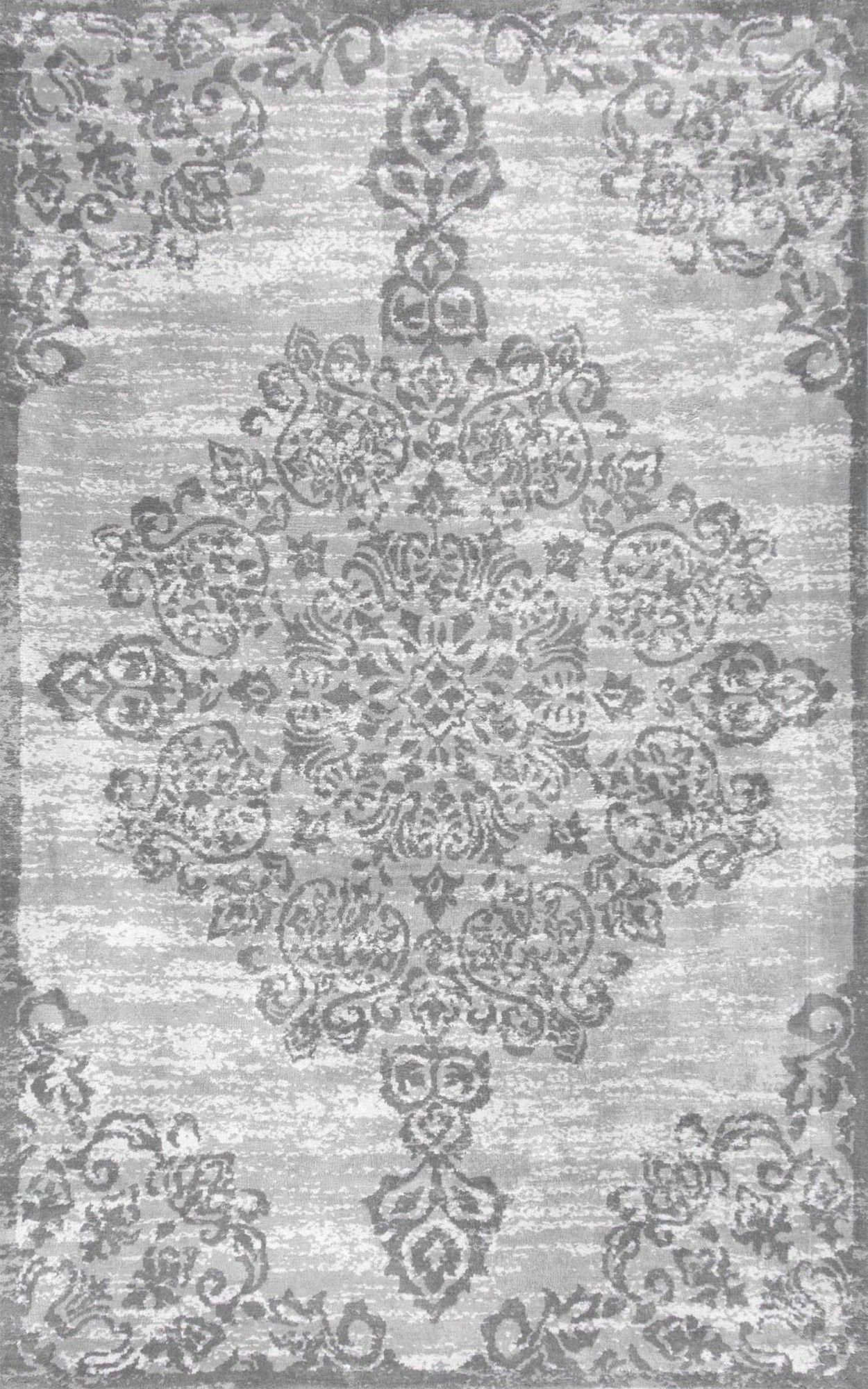 Floral Medallion Gray Area Rug Home Decor Rugs Area