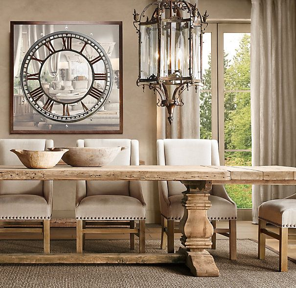 Salvaged Wood Trestle Extension Dining Tables Great For Formal Dining Room  In Cabin. Can Seat A Ton. LOVE This Table!