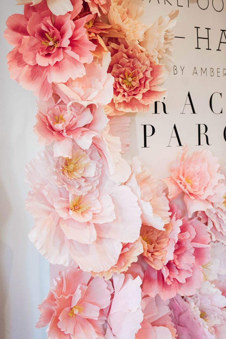 Crepe Paper Peony Wall - The House That Lars Built