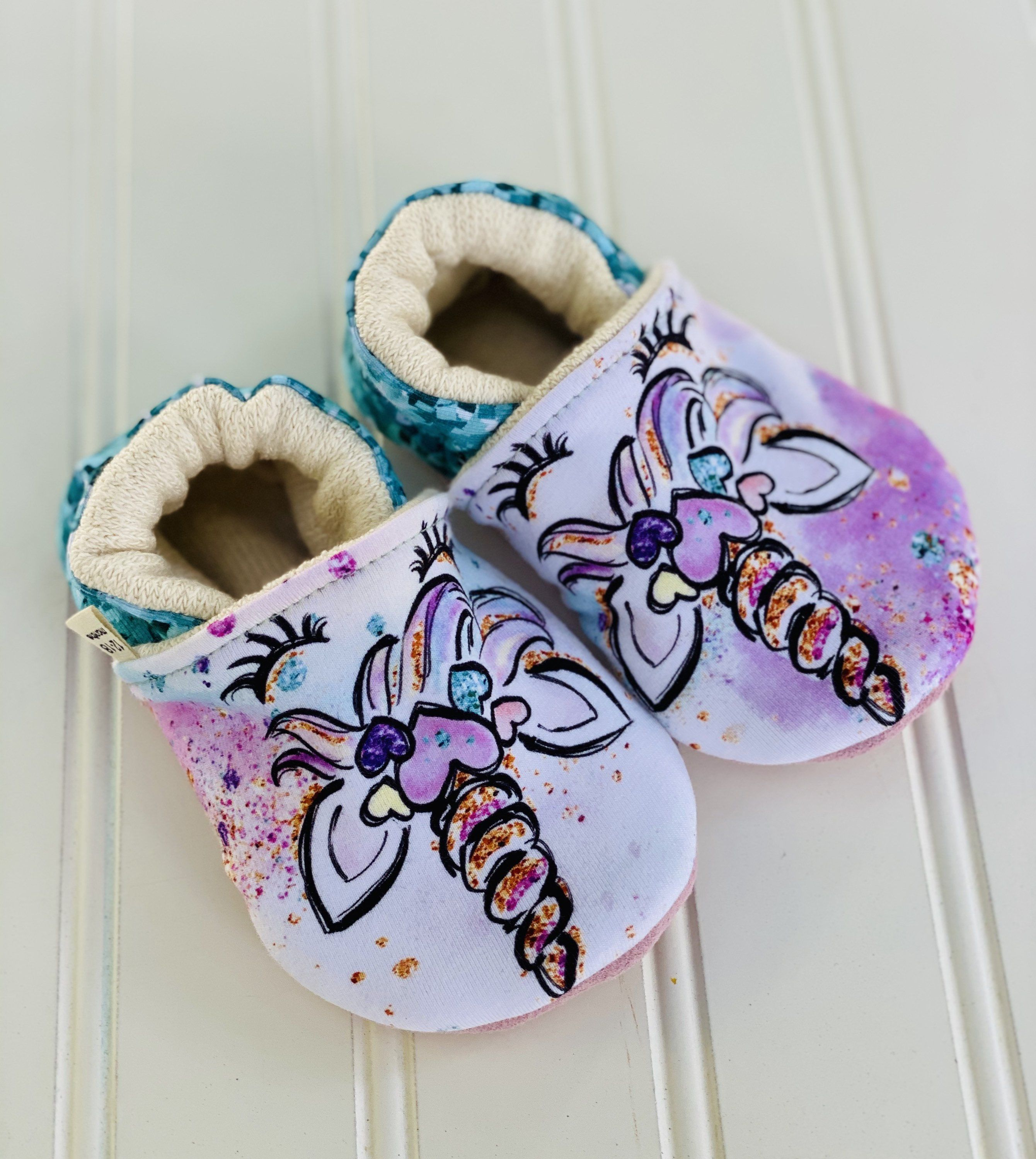 Organic Cotton Soft Soled Shoes 12-18 Months