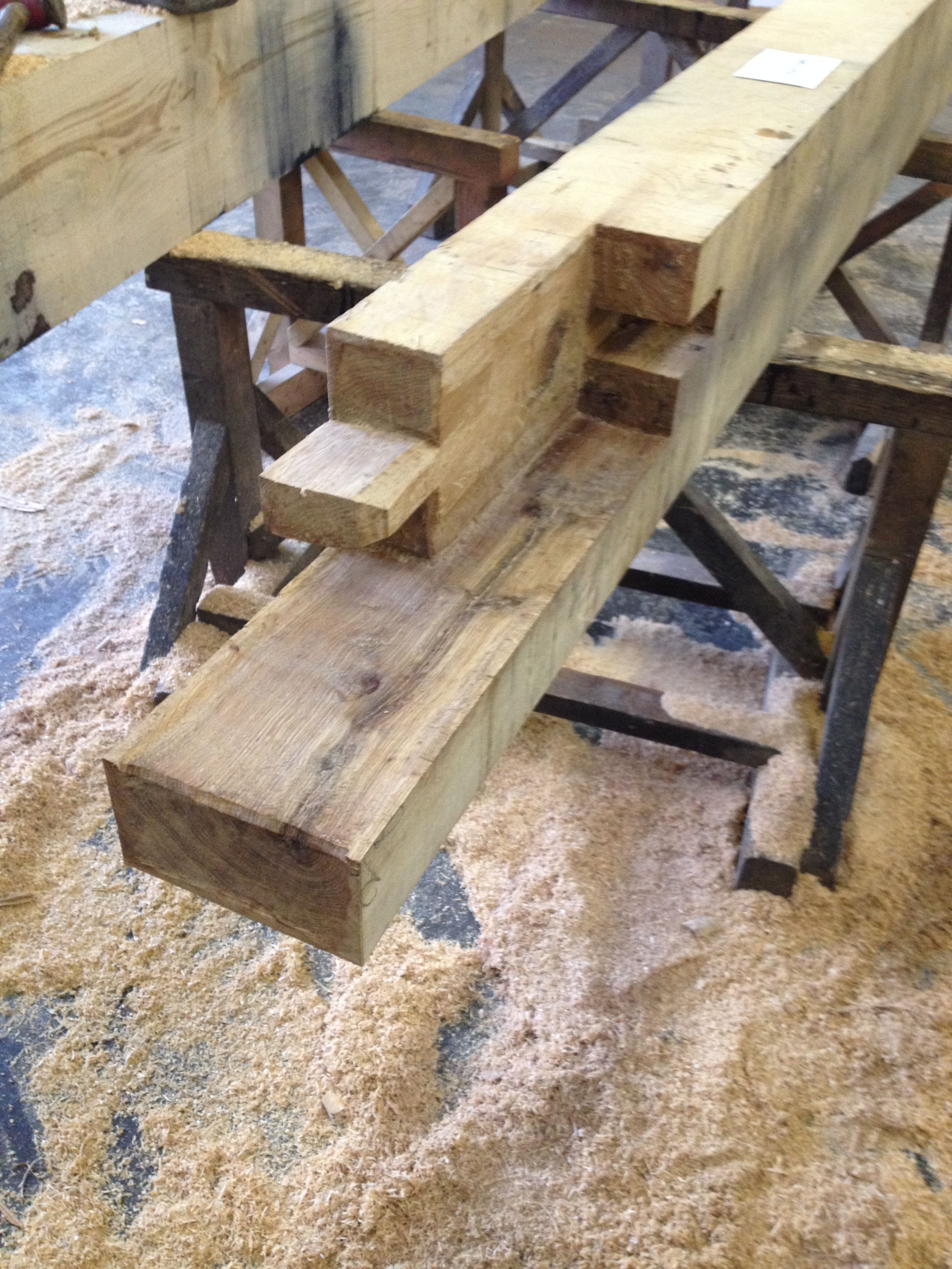 Completed this interesting Edge Half Scarf Joint
