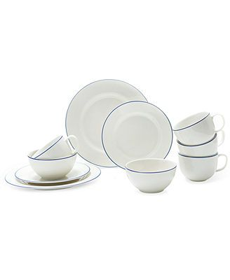 Prima Design Mix and Match Blue Band Collection - Dinnerware - Dining u0026 Entertaining - Macyu0027s  sc 1 st  Pinterest & Prima Design Mix and Match Blue Band Collection | Kitchen ...