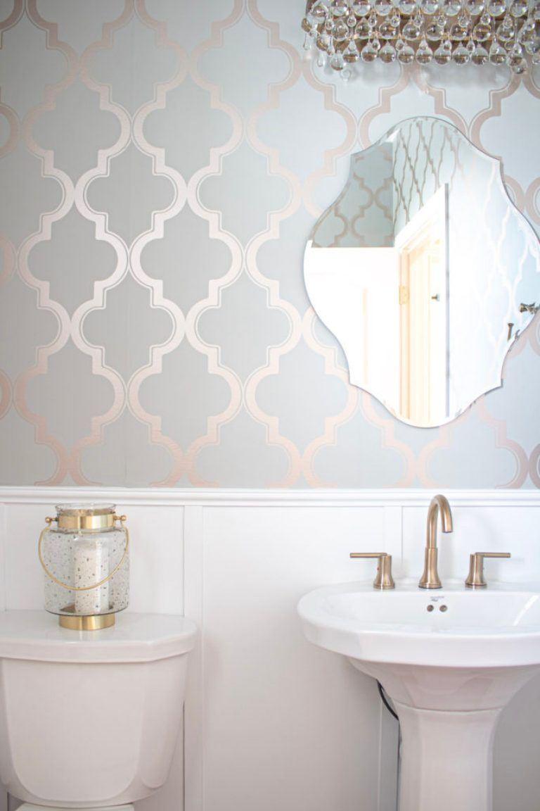 Glam Powder Room Inspiration And Reveal In 2020 Interior House