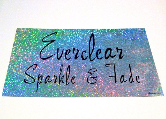 Everclear sticker 11 by 17 inch vintage sparkle and fade rainbow glitter effect band sticker oversized 90s record store d sticker grunge