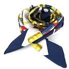 Authentic Hermes Carre Navy & White Scarf 100% Silk
