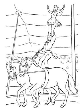 ausmalbild zirkus pferde in 2020 | ausmalen, ausmalbild