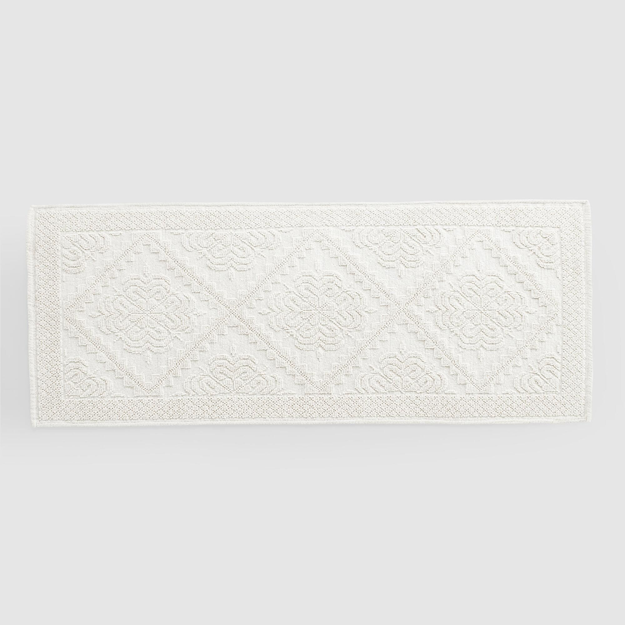 Extra Long Ivory Woven Bath Mat White Cotton By World Market In 2021 Bathroom Rugs Large Bathroom Rugs Long Bathroom Rugs [ 2000 x 2000 Pixel ]