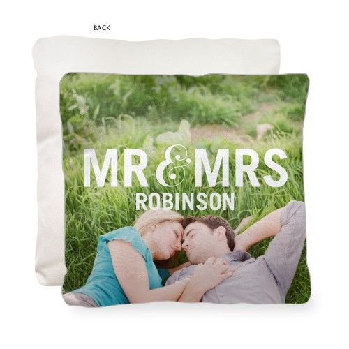 Mr And Mrs Shutterfly Pillow is the best addition for the home.   www.Shutterfly.com