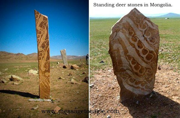 In mongolia there are mysterious standing stones