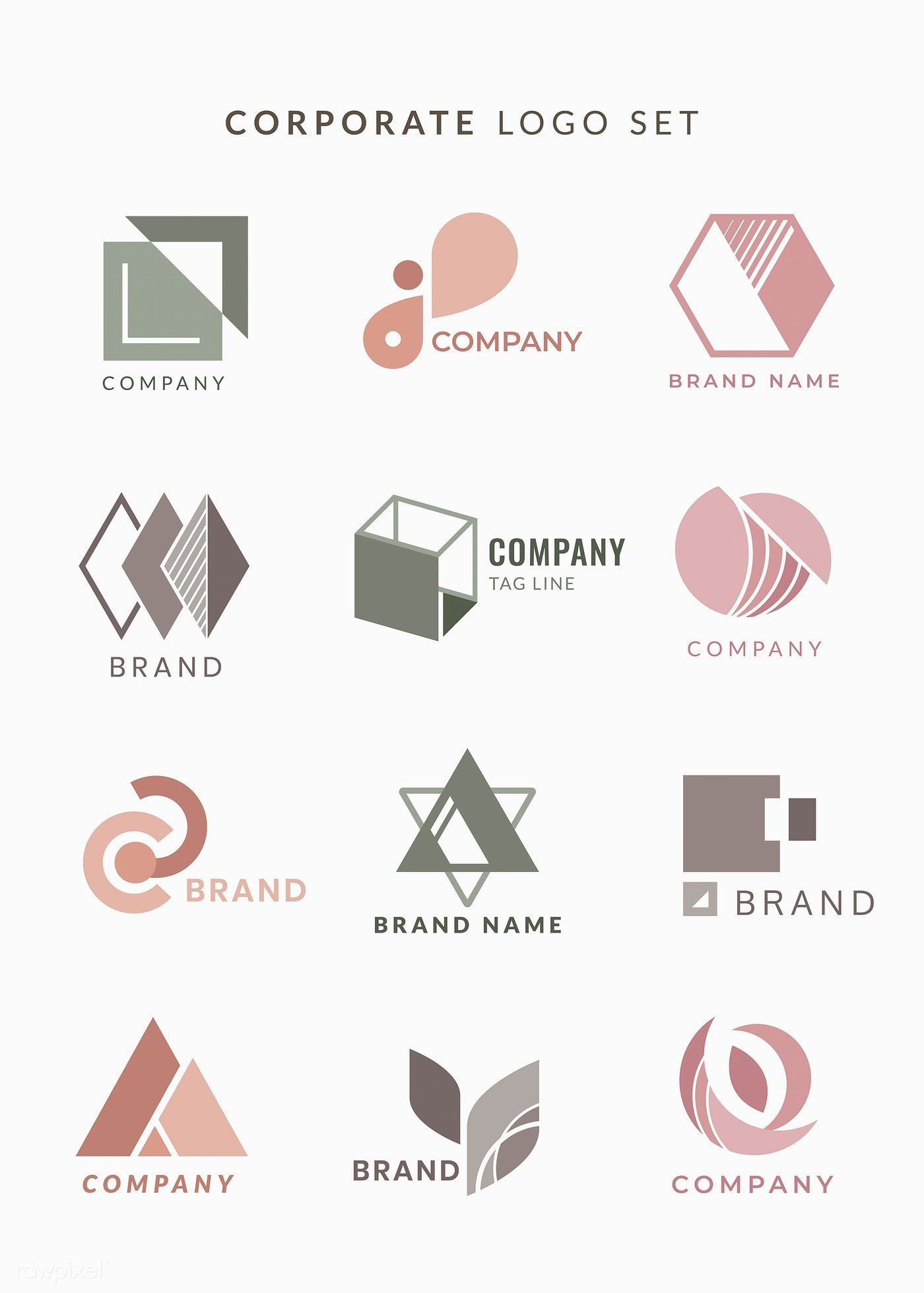 Download premium vector of Company logo designs vector