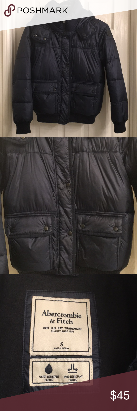 Abercrombie Fitch Blue Hood Puffer Coat Small Abercrombie And Fitch Jackets Puffer Coat Abercrombie [ 1740 x 580 Pixel ]