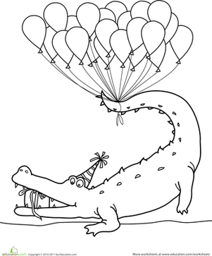 Happy Birthday Coloring! | Happy birthday, Alligators and Birthdays