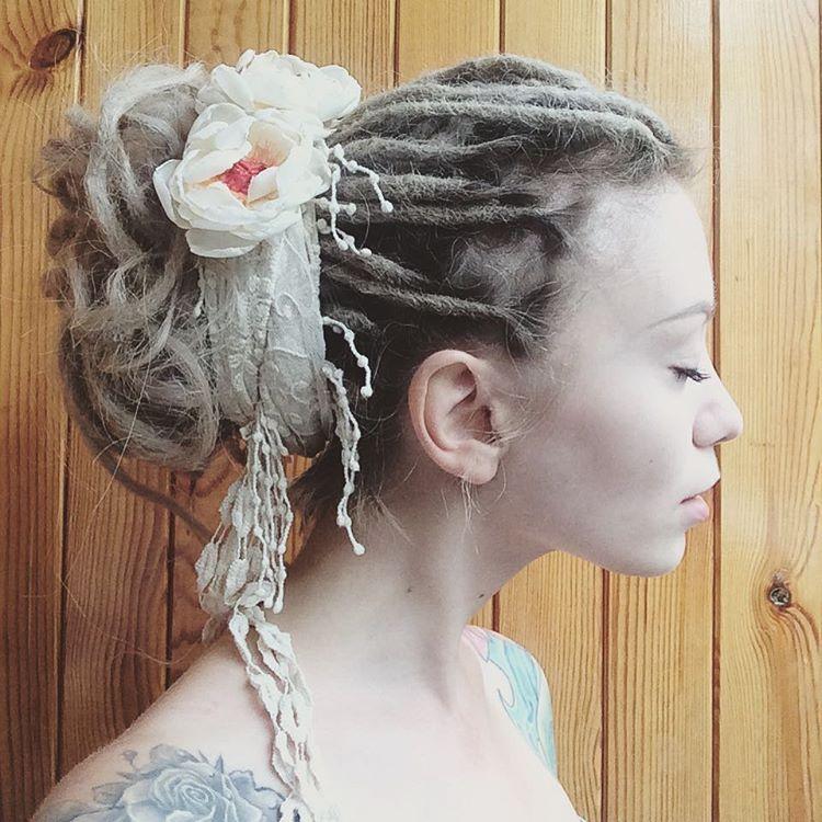 Dreadlock Updo … | Dreadlock styles, Dread hairstyles ...