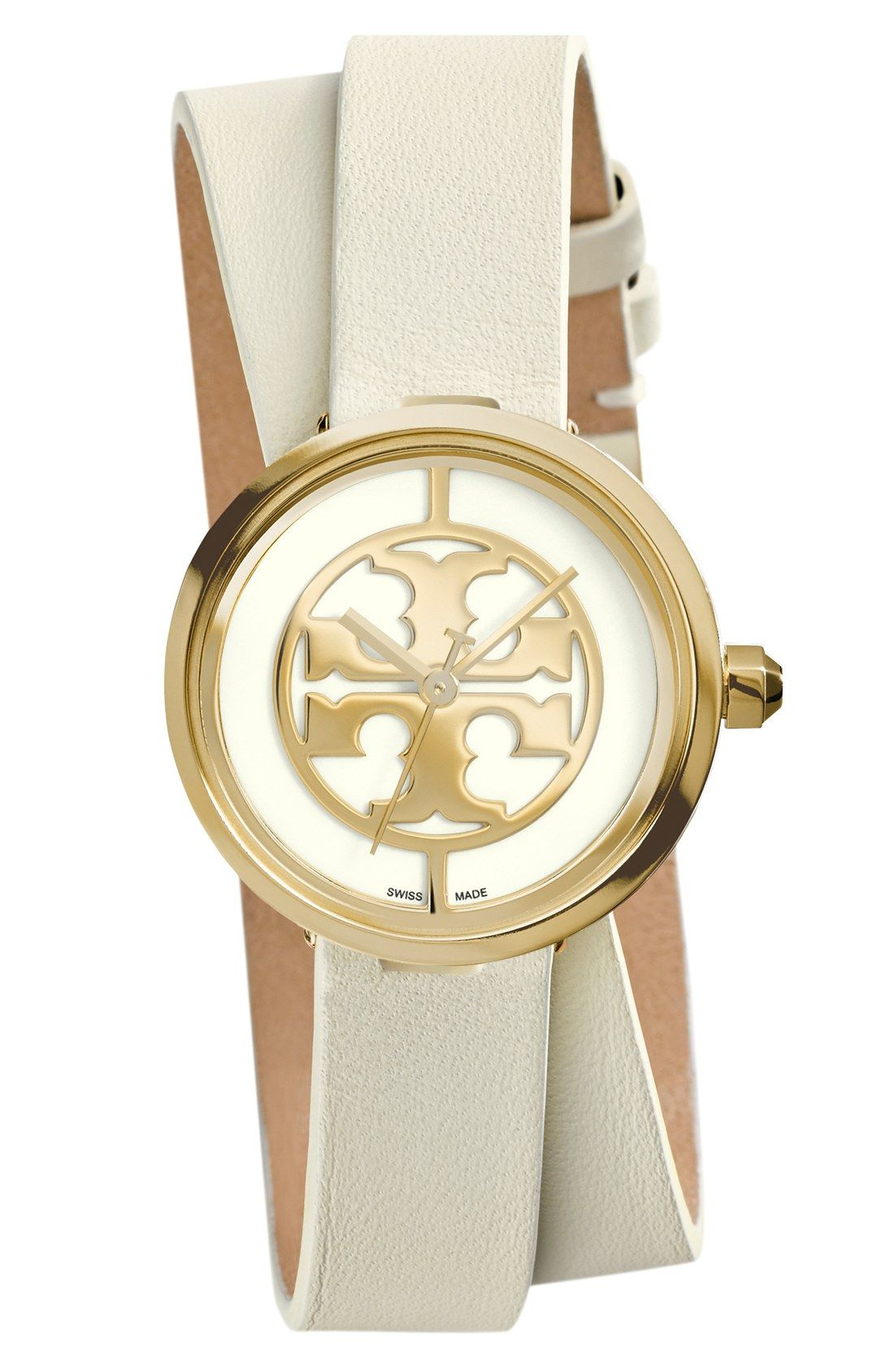 3c3227339 Loving this Tory Burch double wrap leather watch for stacking. | Top ...