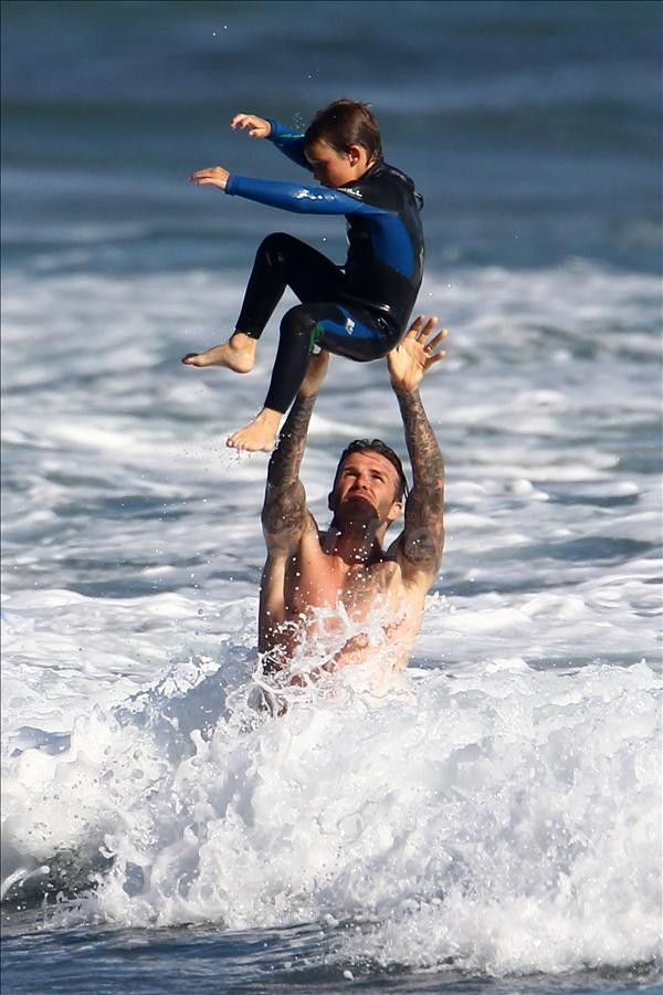 Buddy loved it when Father threw him high up in the air and let him fall back down