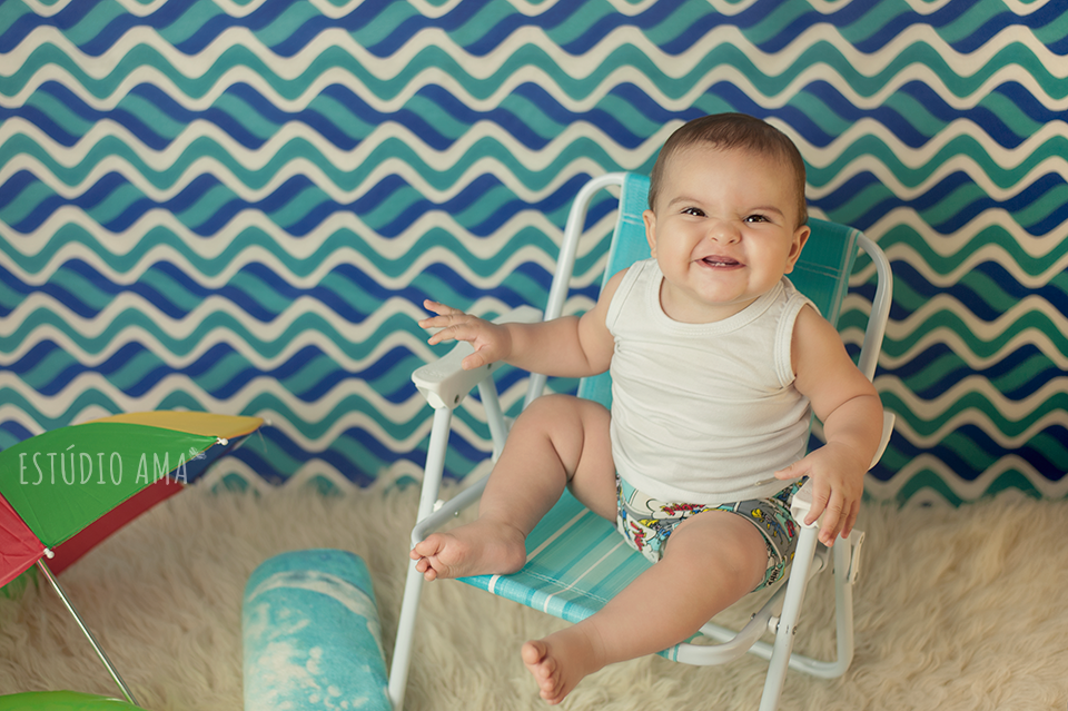 baby summer beach session, baby months