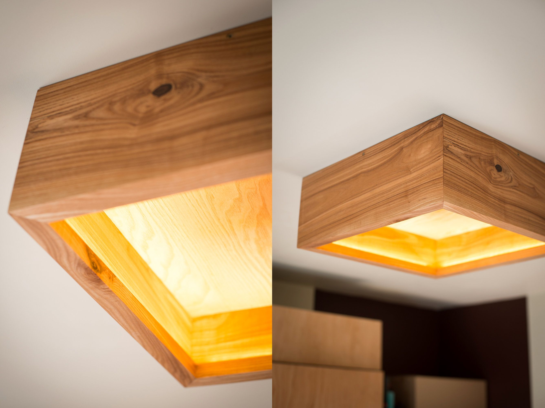Wooden Chandelier Box 16 Ash Wood Wooden Ceiling Lamp Wood Light