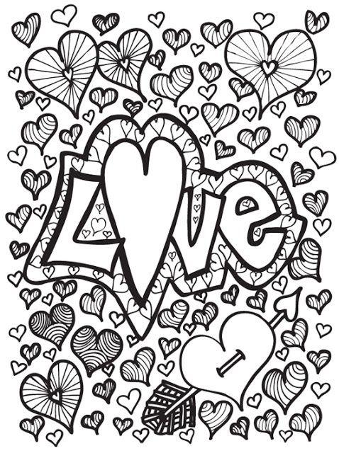 Kleurplaten Volwassenen Valentijn.Coloring For Adults Kleuren Voor Volwassenen Valentijn