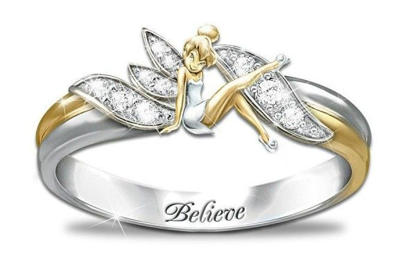 disney wedding rings tinkerbell | Disney Inspired Rings ...