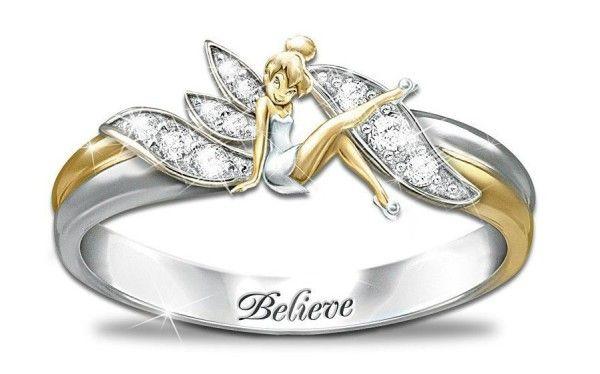 disney wedding rings tinkerbell   Disney Inspired Rings ...