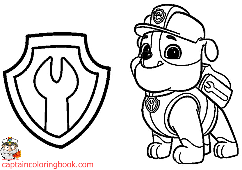 Paw Patrol Coloring Book Free Download pdf | Coloring Page | Captain ...