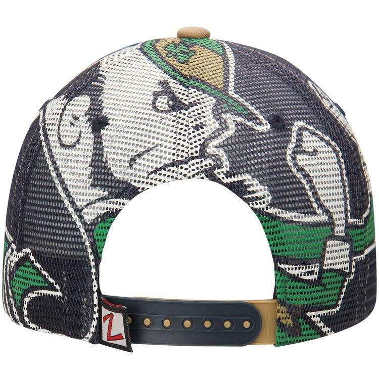 682d027e6099b Notre Dame Fighting Irish Zephyr NCAA Screenplay Trucker Adjustable Hat -  Navy